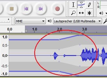 Durch das Faden wird ein sanfter Einstieg in die Audio-Datei möglich