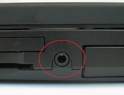 Klinke Eingang an Laptop