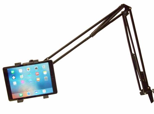 Tablet-Halterung für iPads (Best. Nr. GEDMI) flexibel, schwenkbar und verstellbar in Höhe und Richtung (wie eine Schreibtischlampe)