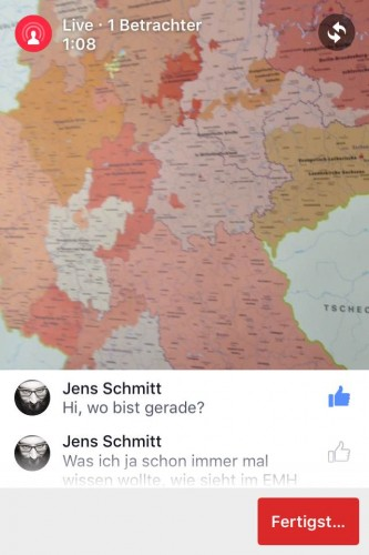 Livestreaming bei Facebook