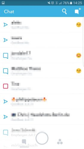 Snapchat bietet auch eine Chatfunktion an, der Chatverlauf wird in Snapchat nicht gespeichert