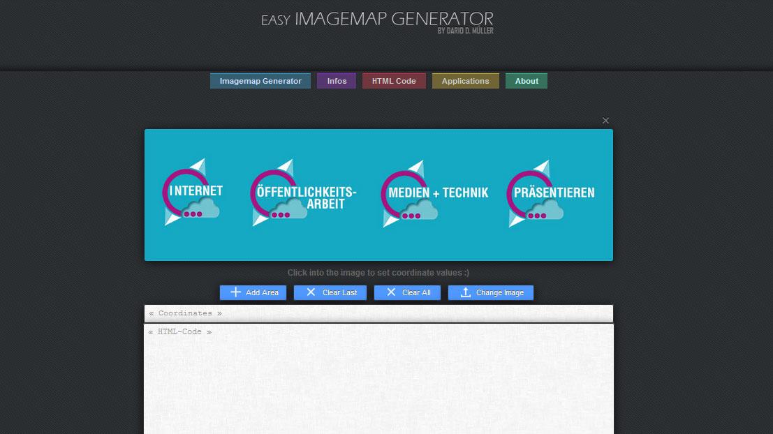 Der Imagemap Generator skaliert die Grafik nicht automatisch