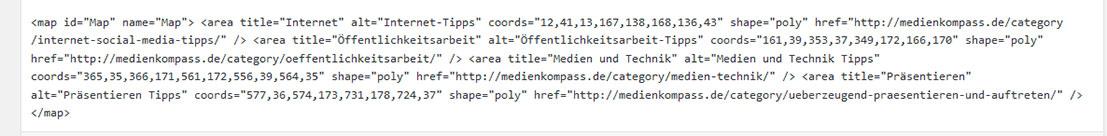 Imagemap Generator: HTML-Code
