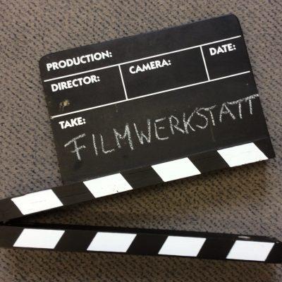 Schmuckbild: Filmklappe mit Buchtitel