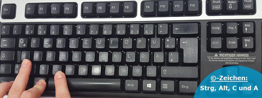 Copyright zeichen tastatur