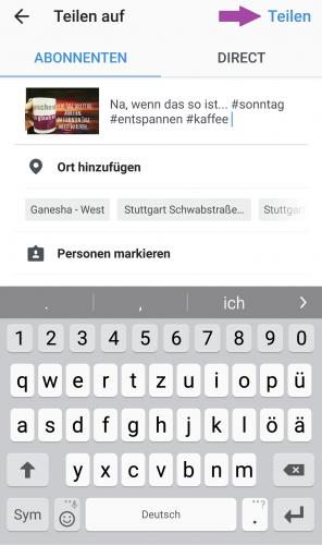 So funkioniert die Bilder-App Instagram: Mit Hashtags wird das Bild auch für andere Instagram-Nutzer auffindbar