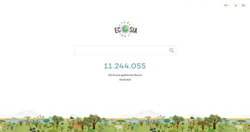 Alternative Suchmaschinen zu Google: Mit einer Internetsuche bei der alternativen Suchmaschine Ecosia helfen Sie bei der Aufforstung des brasilianischen Regenwalds