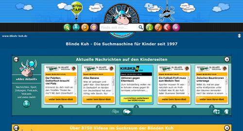 Alternative Suchmaschinen zu Google: Die kindersichere Suchmaschine Blinde Kuh prüft im Vorfeld der Suchergebnis-Anzeige, ob die Inhalte kindergrecht sind