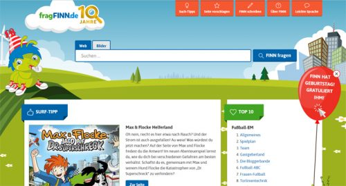 Alternative Suchmaschinen zu Google: fragFinn ist besonders für Kinder für die Suche im Internet geeignet