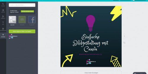 Anleitung für Canva: Bilder-Content in Canva-slides erstellen