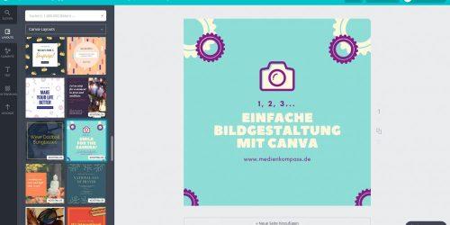 Anleitung für Canva:: Verschiedene Layouts und Bilder in Canva bieten jede Menge Gestaltungsmöglichkeiten