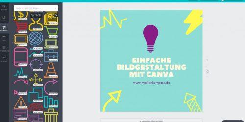 Anleitung für Canva: Tipps zur Grafikgestaltung mit Canva. Mit den Vorlagen und Symbolen können tolle Grafiken erstellt werden