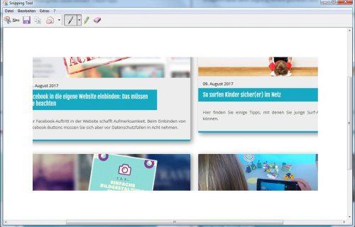 Es öffnet sich ein neues Fenster in dem Sie weitere Optionen zur Auswahl haben: Sie können zuerst das Bild bearbeiten oder es gleich mit Klick auf das Diskettensymbol speichern.