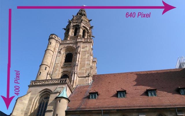 Die Kilianskirche mit den Maßen 640x400 Pixeln. Die Datengröße beträgt 41KB.