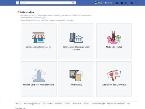 Ihr Facebook-Unternehmensprofil können Sie über die Kategorien verfeinern, um bei Facebook mit Ihrer Seite einen gezielten Nutzerkreis anzusprechen
