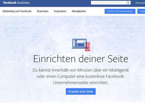 Über Facebook kann man eine eigene Seite für sein Unternehmen, seine Gemeinde oder seine Einrichtung anlegen. Voraussetzung ist ein persönliches Facebook-Profil, dem die Admin-Rechte für die Facebook-Unternehmensseite zugeteilt werden