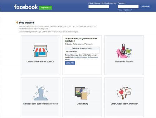 Der Name der Facebook-Unternehmensseite muss Seiteninhalte, die gepostet werden, korrekt wiedergeben
