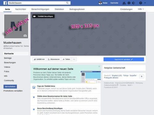 Das Titelbild und das Profilbild der Unternehmensseite bietet dem Besucher einen Wiedererkennungseffekt und liefert erste Informationen über die Angebote