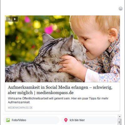 Facebook generiert nun automatisch eine Link-Vorschau.