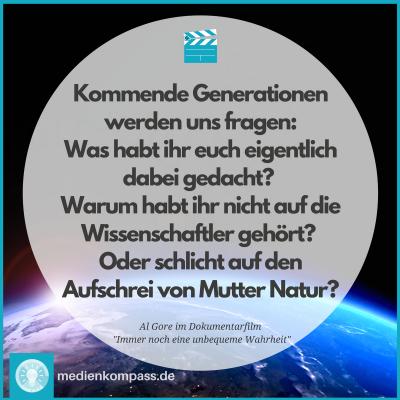 """Film-Tipp: """"Eine immer noch unbequeme Wahrheit"""" von Al Gore über Umwelt und Klima"""