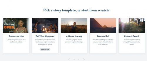 Ein Template von Adobe Spark auswählen
