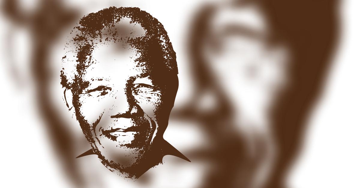 Gesicht von Nelson Mandela