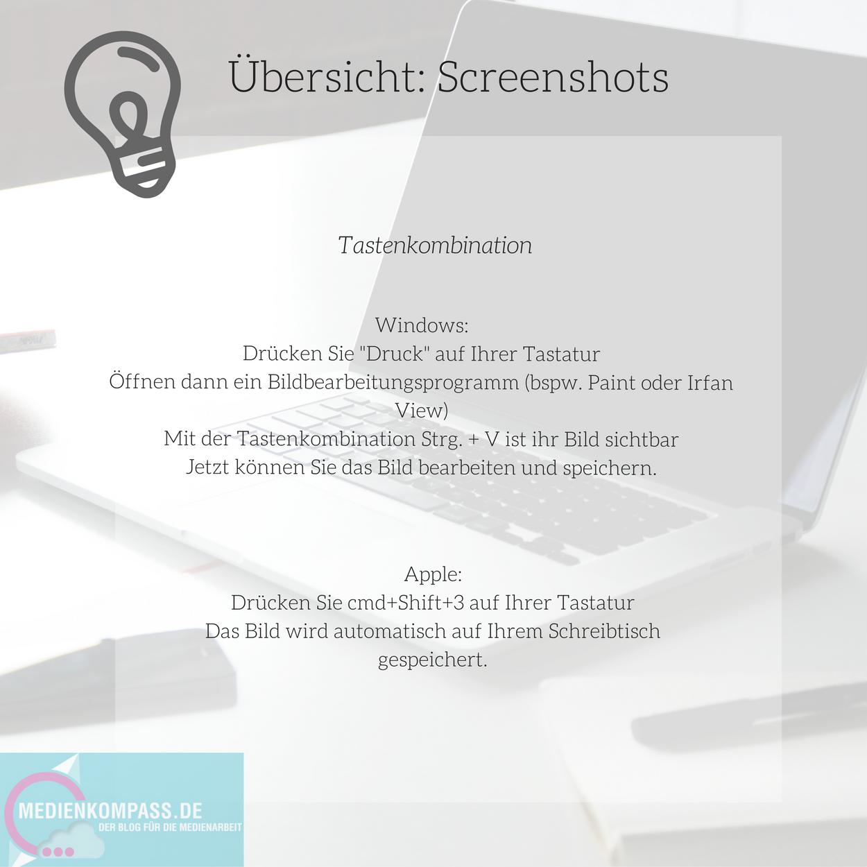 Wie Mache Ich Einen Screenshot Anleitung Für Windows Und Apple