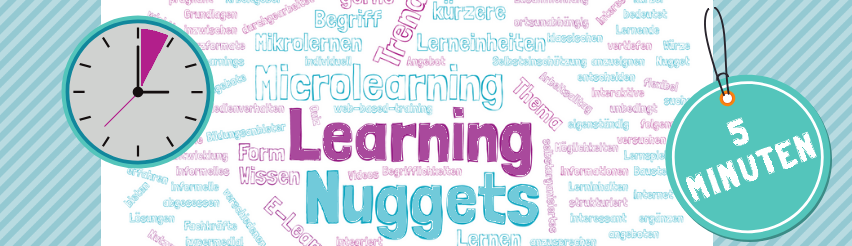 Wortwolke Learning Nuggets - eine Form von E-Learning