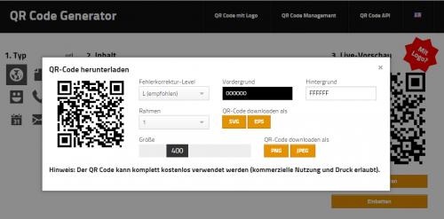Screenshot: Zeigt die Format-Auswahlmöglichkeiten
