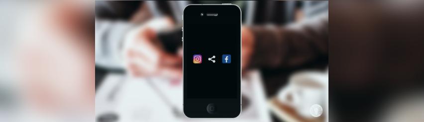 Bild: zeigt ein Smartphone mit den Apps Facebook und Instagram