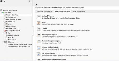 """Fügen Sie im Gemeindebaukasten unter der Option """"HTML-Element"""" den Emebded-Code von SoundCloud ein."""