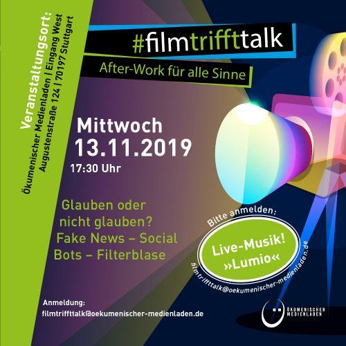 film trifft talk - After-Work für alle Sinne