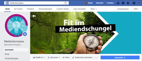 Screenshot Facebook: Aufbau von Crossposting-Beziehungen zwischen zwei Unternehmens-Seiten