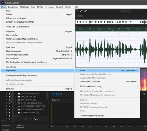 Exportieren im MP3-Format