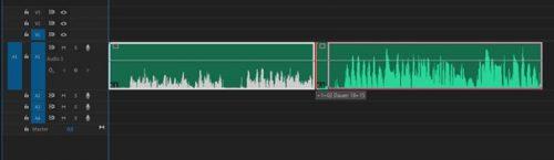 Adobe Premiere Pro: Abschnitte zusammenschieben.