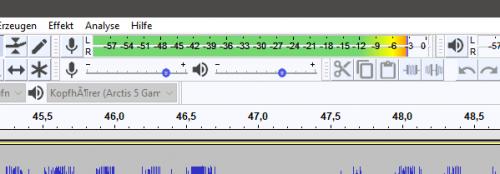 Mikrofon-Pegel in Adobe Audition
