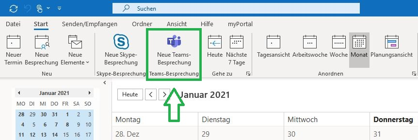 Teams in Outlook