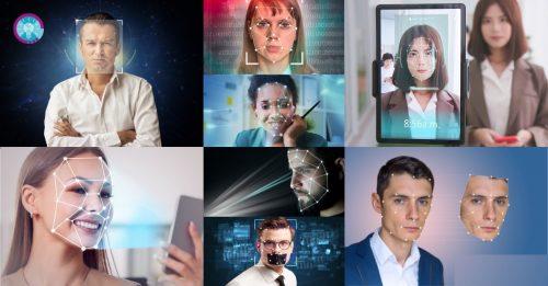 Was ist Deepfake und sind sie gefährlich? Bildinhalt: Gesichter auf Smartphones und Bildschirmen